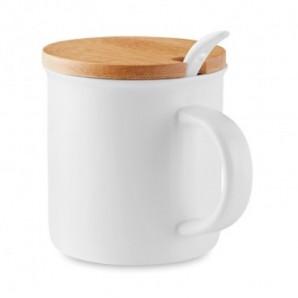 Bolígrafo de PP con cuerpo y capuchón de color