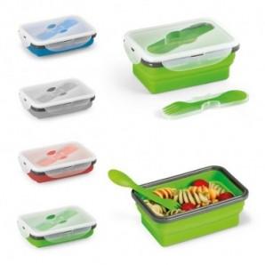 Portalápices con calendario reloj y termómetro