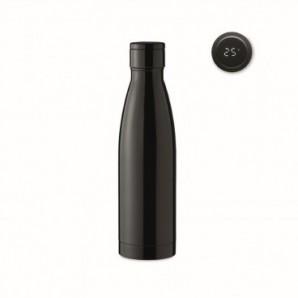 Llavero rectangular de metal cromado