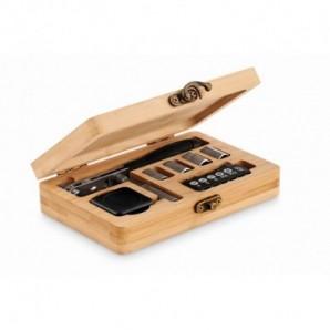 Set pinturas en caja de madera