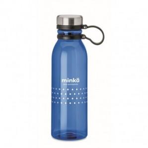 Llavero rectangular metal y bambú