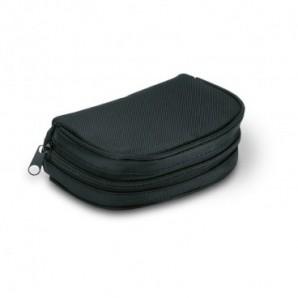 Bolsa de la compra en poliéster y asa madera Azul