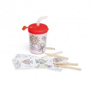 Pack globos de 28 cm + inflador manual Rosa