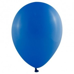 Globos metalizados personalizados 29 cm diámetro Azul celeste