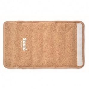Caja de té de bambú con tapa de cristal