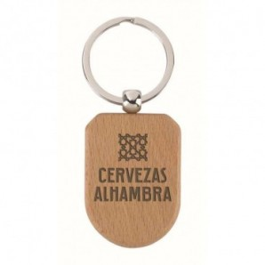 Paraguas automático con mango de madera